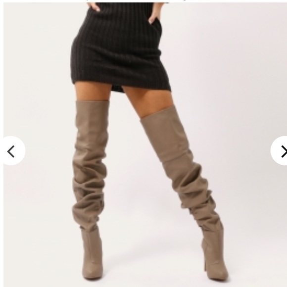 Over The Knee Slouch Boots